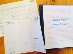 Meal planning documents picture